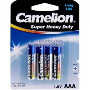 Pin AAA R03P-BP4B Camelion Carbon 1.5V