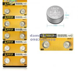 Vỉ 10 Pin cúc nút áo Alkaline AG3 - SR41 - LR41 - LR736