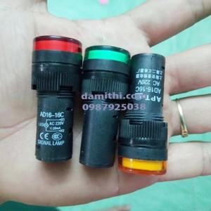 Đèn báo tín hiệu phi 16mm AC 220V